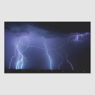 Lightning Strike 3 Rectangular Sticker