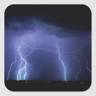 Lightning Strike 3 Square Sticker