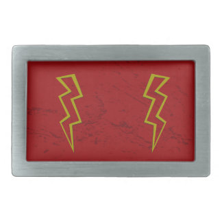 Lightning Strike Rectangular Belt Buckles