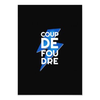 Lightning Strike - Coup de Foudre French Saying Card