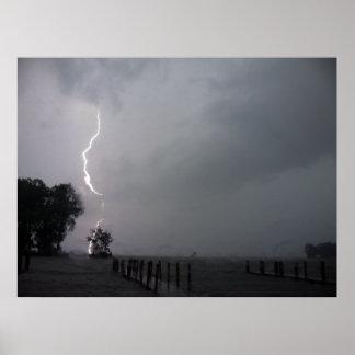 Lightning Strike - Fine Art Photography Prints Poster