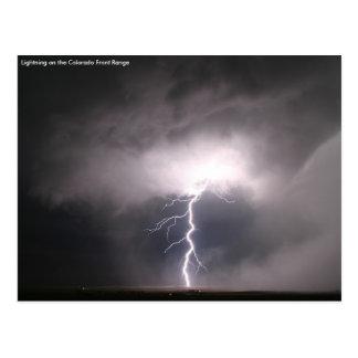 Lightning Strike on the Colorado Front Range Postcard
