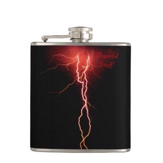 Lightning Strike Vinyl Wrapped Flask