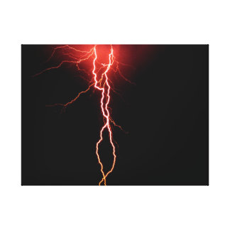 Lightning Strike wrapped canvas