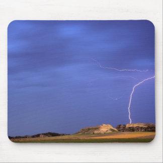 Lightning strikes buttes near Scottsbluff Mouse Pad