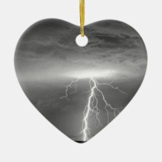 Lightning Strikes Following the Rain BWSC Ceramic Ornament