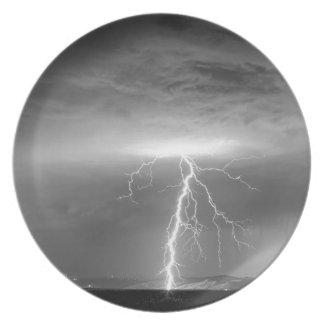 Lightning Strikes Following the Rain BWSC Dinner Plate