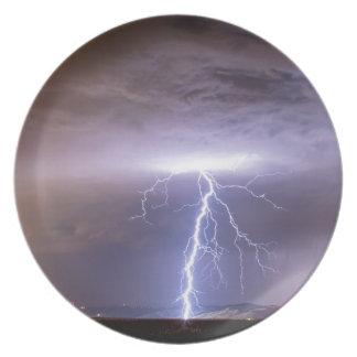 Lightning Strikes Following the Rain Dinner Plate