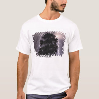 Lightning Strikes In The Sky Behind A Tree T-Shirt