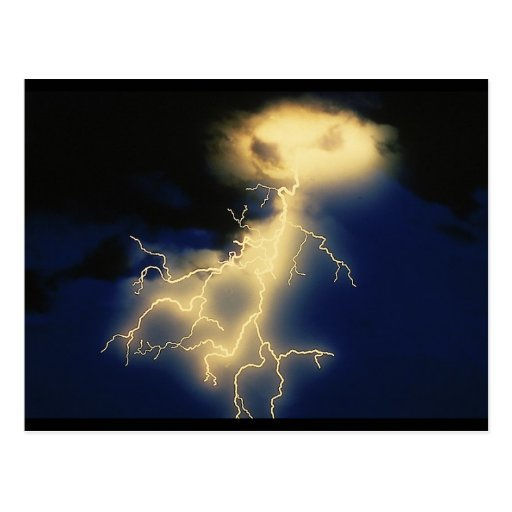 Lightning Strikes Postcard