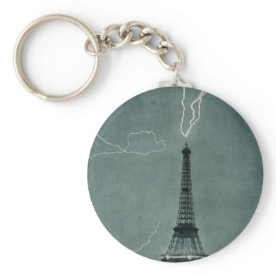 Eiffel Tower Lightning Strike Picture on Lightning Strikes The Eiffel Tower  1902 Key Chain From Zazzle Com