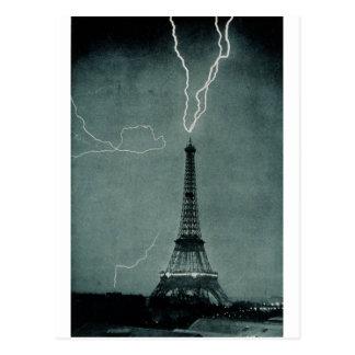 Lightning Strikes the Eiffel Tower 1902 Postcards