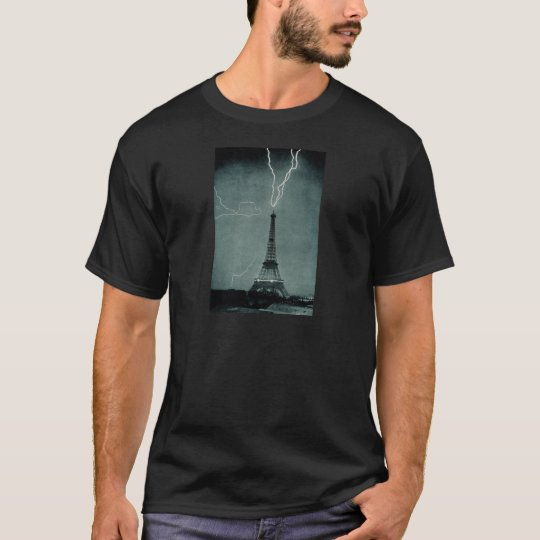 Lightning Strikes the Eiffel Tower, 1902 T-Shirt