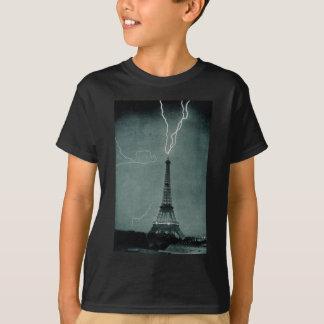 Lightning Strikes the Eiffel Tower, 1902 T-Shirt