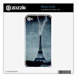 Lightning Strikes the Eiffel Tower Victorian Paris iPhone 4 Skins