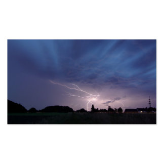 Lightning Striking During Thunderstorm Double-Sided Standard Business Cards (Pack Of 100)