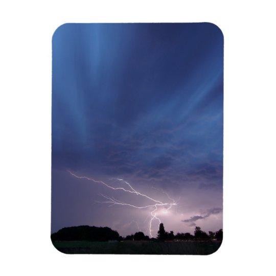 Lightning Striking During Thunderstorm Magnet