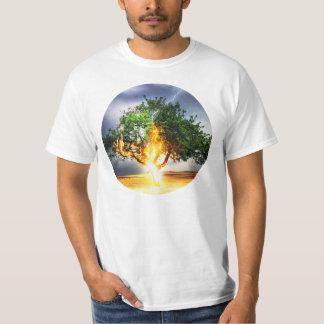 Lightning Striking Tree During Storm T-Shirt