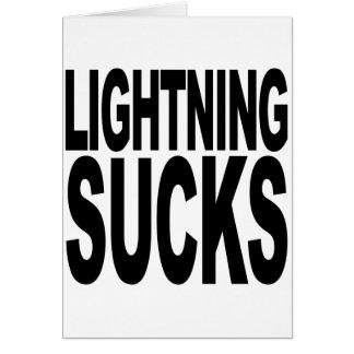 Lightning Sucks Greeting Card