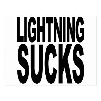 Lightning Sucks Postcard