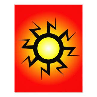 Lightning Sun Tattoo Flyer
