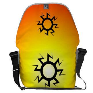 Lightning Sun Tattoo Courier Bags