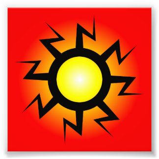Lightning Sun Tattoo Photographic Print