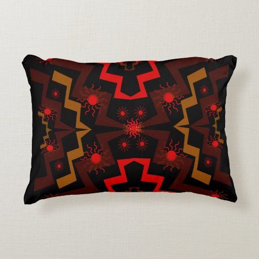 Lightning Suns Abstract Accent Pillow