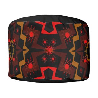 Lightning Suns Abstract Pouf