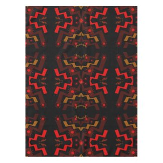 Lightning Suns Abstract Red Brown Tablecloth