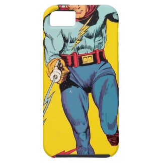 Lightning Superhero fights a dragon to save alien iPhone SE/5/5s Case