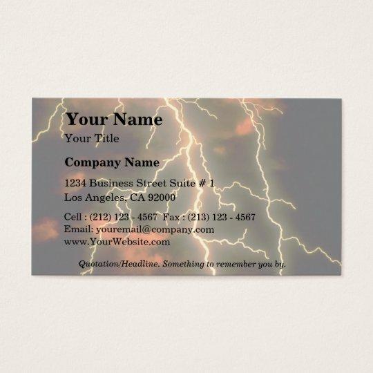 Lightning texture business card