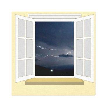 cloudsendgallery Lightning through a Window Canvas Print