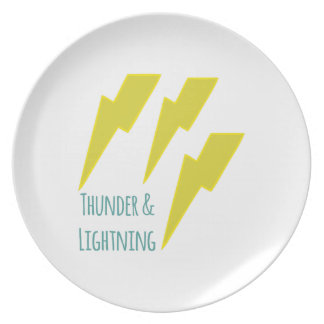 lightning_thunder and lightning party plates
