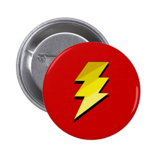 Lightning Thunder Bolt 2 Inch Round Button