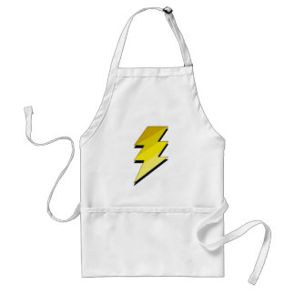 Lightning Thunder Bolt Adult Apron