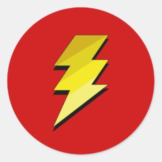 Lightning Thunder Bolt Classic Round Sticker