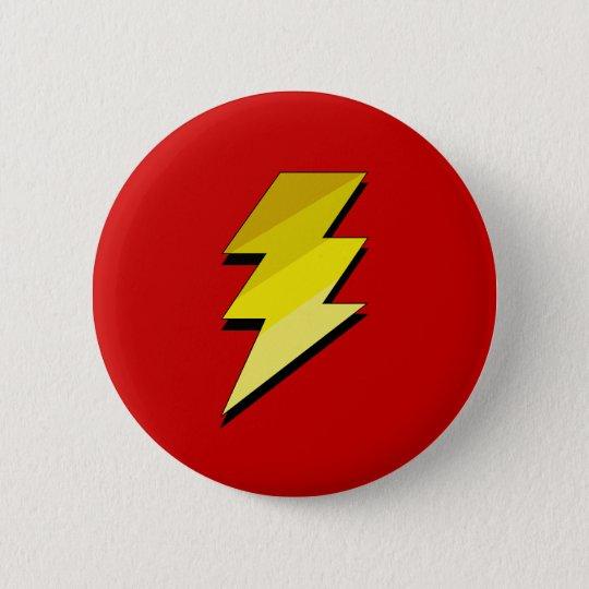 Lightning Thunder Bolt Pinback Button