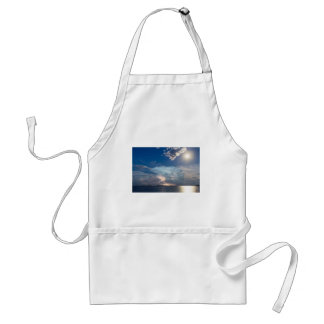 Lightning Thunderstorm Cell and Moon Adult Apron