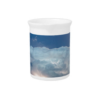 Lightning Thunderstorm Cell and Moon Beverage Pitcher