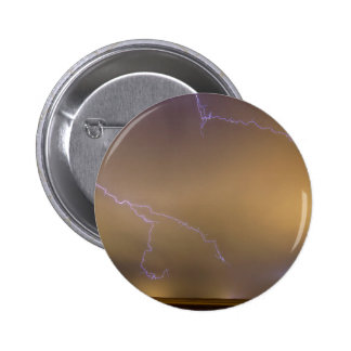 Lightning Thunderstorm the BIG and the Small Pinback Button
