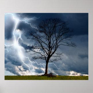 Lightning Tree Poster