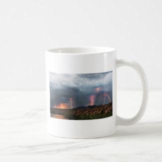 Lightning triple strike. coffee mug