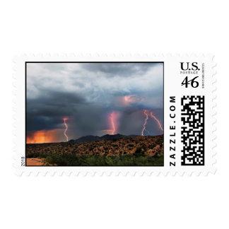 Lightning triple strike postage stamps