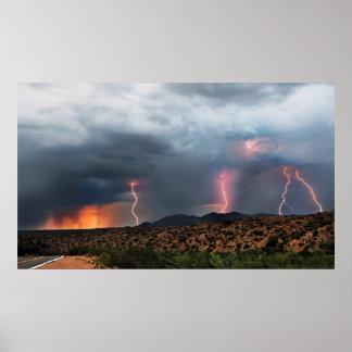 Lightning triple strike poster