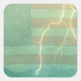 Lightning Walk the Line Square Sticker