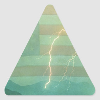 Lightning Walk the Line Triangle Sticker