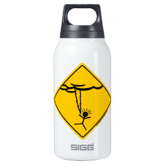 Lightning Weather Warning and Clothing Thermos Water Bottle