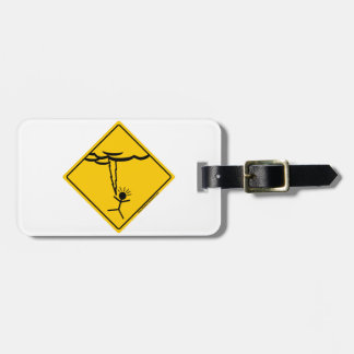 Lightning Weather Warning Merchandise and Clothing Bag Tag