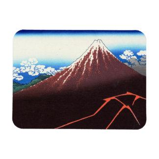 Lightnings below the summit Katsushika Hokusai Rectangular Photo Magnet